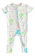 Load image into Gallery viewer, Sully Short Sleeve Zippered Romper