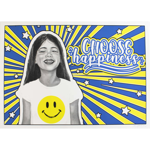 Silkscreen Print Choose Happiness