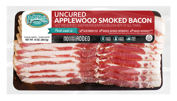UNCURED APPLEWOOD SMOKED BACON - 10oz