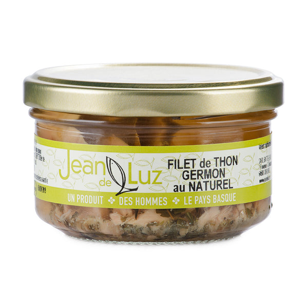 Filet de thon germon au naturel - 140gr