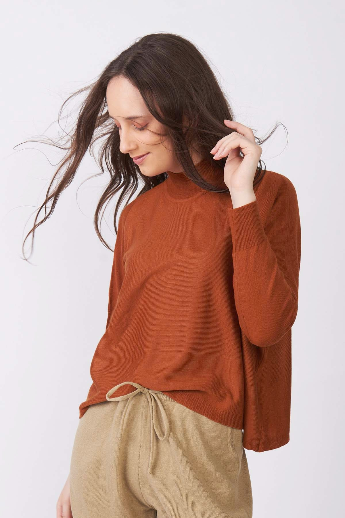 Honey Ginger Cropped Sweater