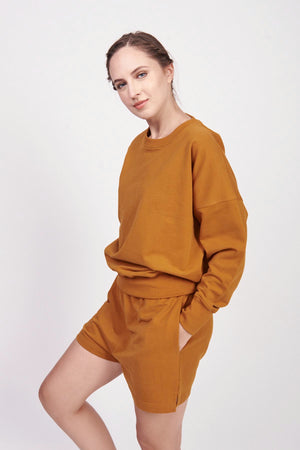 Jersey Tech Honey Ginger Sweatshirt