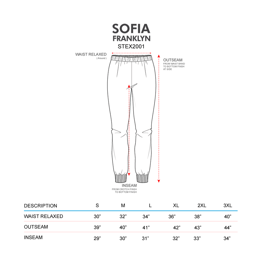Sofia Franklyn: White 'Sloot' Joggers