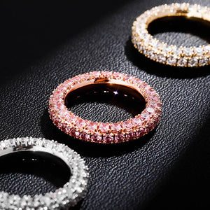3 Row CZ Eternity Ring
