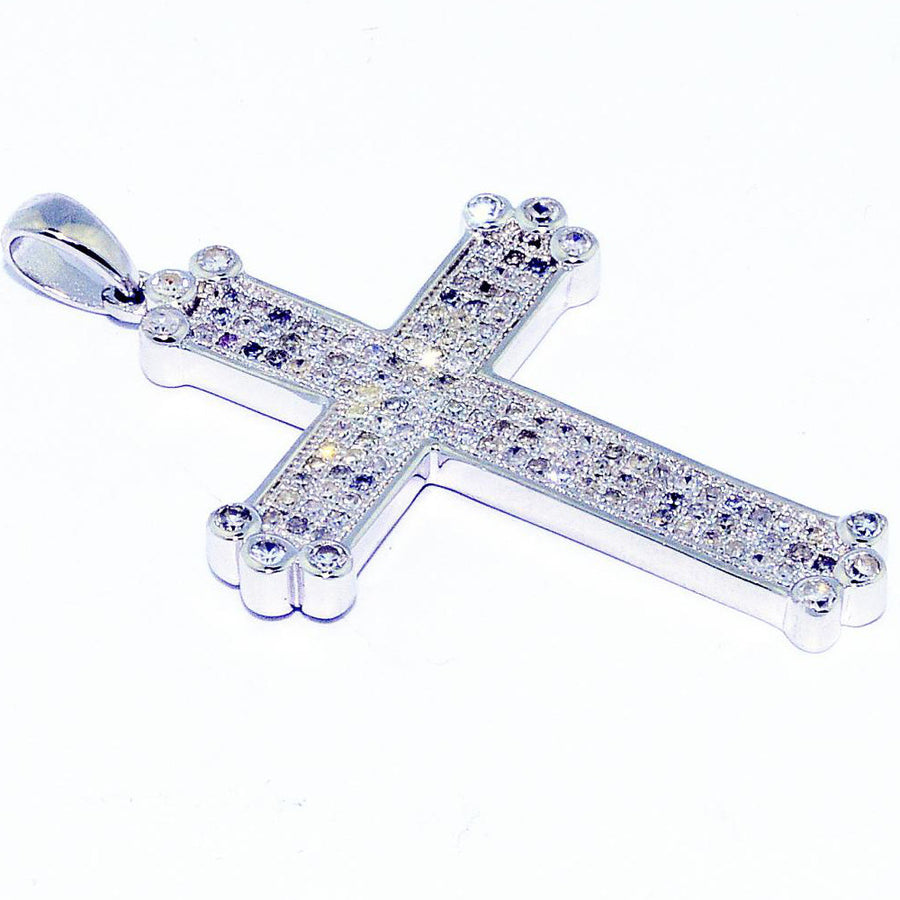 Diamond Cross Mens 35mm Diamonds
