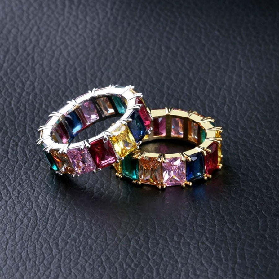 8mm Rainbow CZ Ring