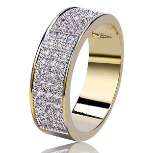 Iced Out Bordered Micro Pave CZ Ring