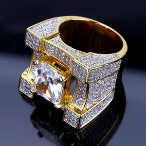 Micro Pave CZ Cubes on Cubes Ring