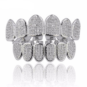Fully Flooded Micro Pave CZ Grillz