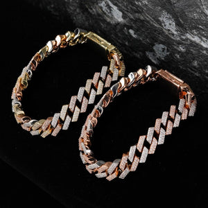 14mm Iced Out Big Box Clasp Miami Link Bracelet