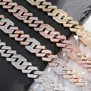 14mm Iced Out Figaro Link Heavy Chain