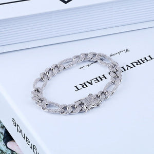 10mm Iced Out Loop Figaro Bracelet