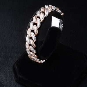 14mm Iced Out Cuban Bracelet