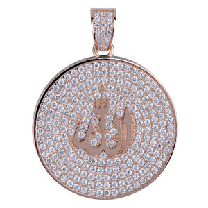Iced Out Allah Pendant and Chain