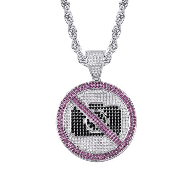 Iced No Photo Pendant & Chain