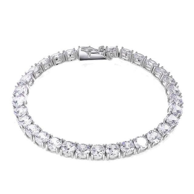 3-6mm 925 Sterling Silver Tennis Bracelet