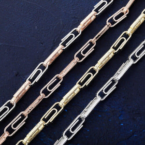 10mm Iced Out Paper Clip Chain