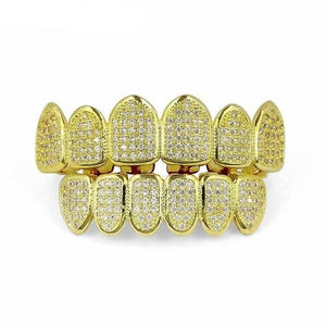 Iced Out 6-Tooth Micro Pave CZ Grillz