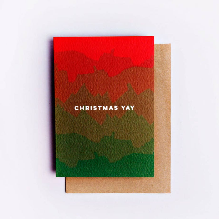 Christmas Ombre Card