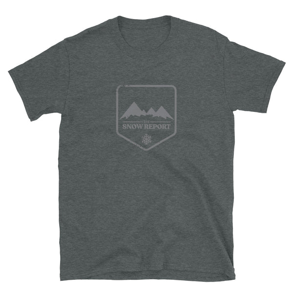 The Snow Report Logo T-Shirt in Heather Grey