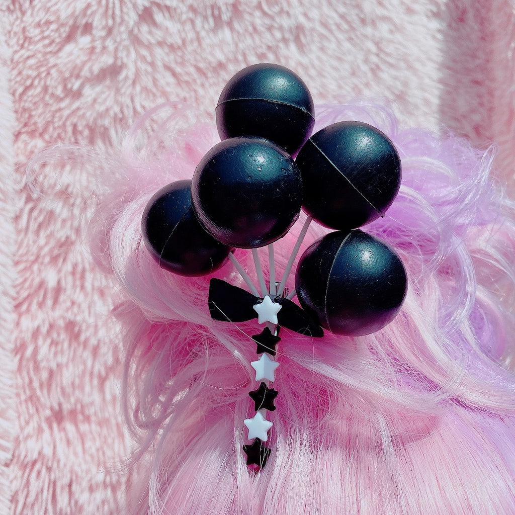 Halloween Black Balloon Hair Clip