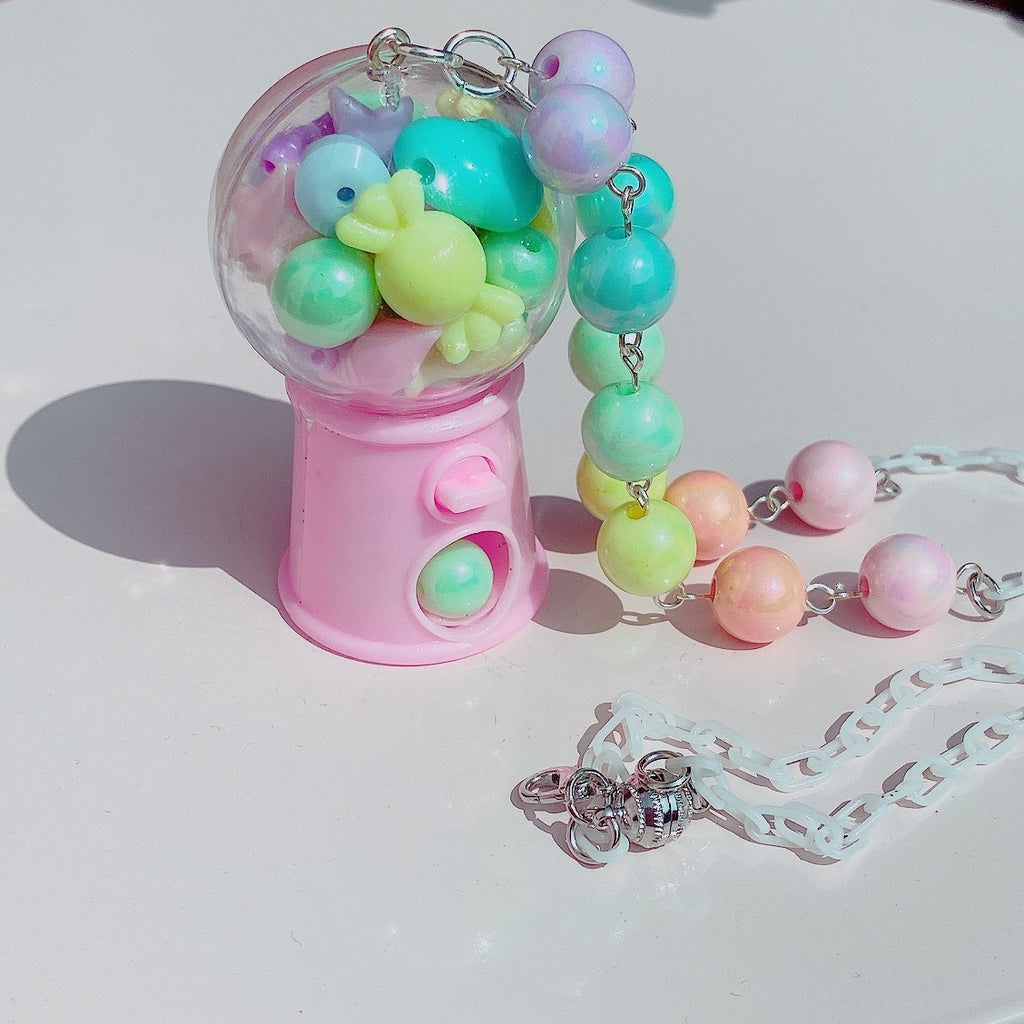 Kawaii Fairy Kei Gumball machine necklace