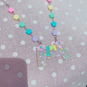 Kawaii Bow Gamer Controller Fairy Kei Necklace
