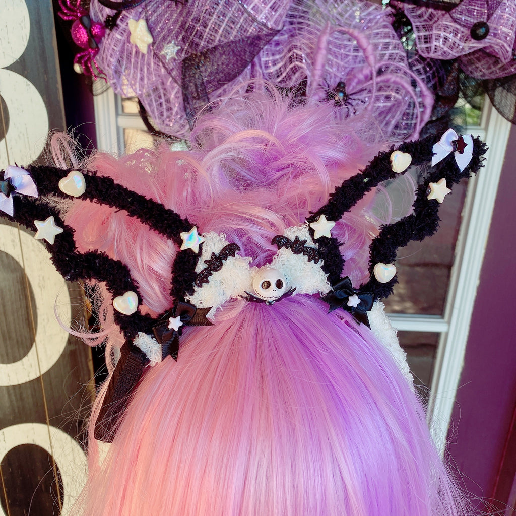 Halloween Pumpkin King Jack Creepy Cute Fuzzy Bat Wing Headband Kuromi Lavender