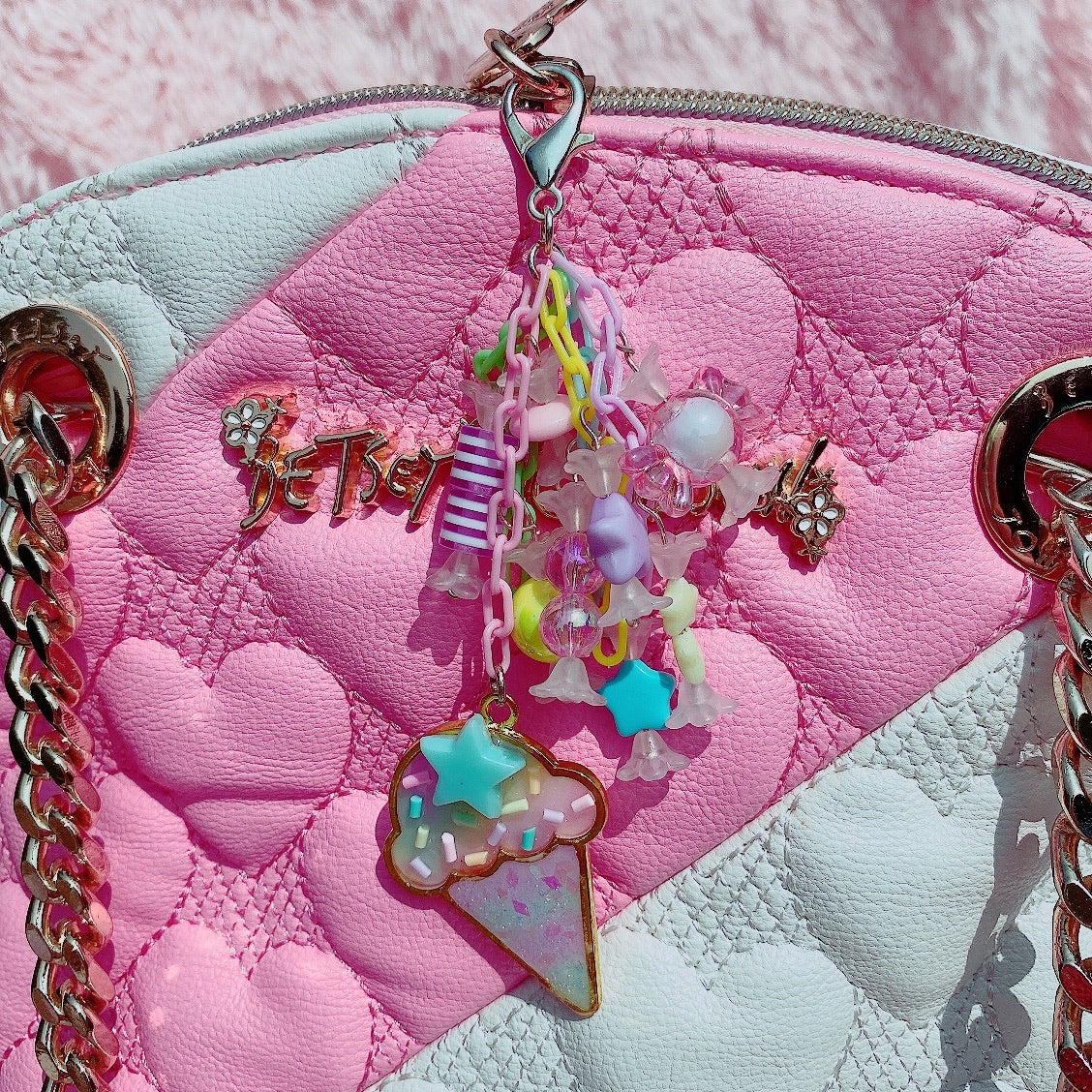 Kawaii Rainbow Ice Cream  Candy Charm Bag / phone charm
