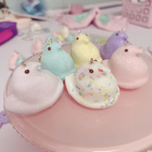 Peep Chick Dangle Earrings Pick A Color