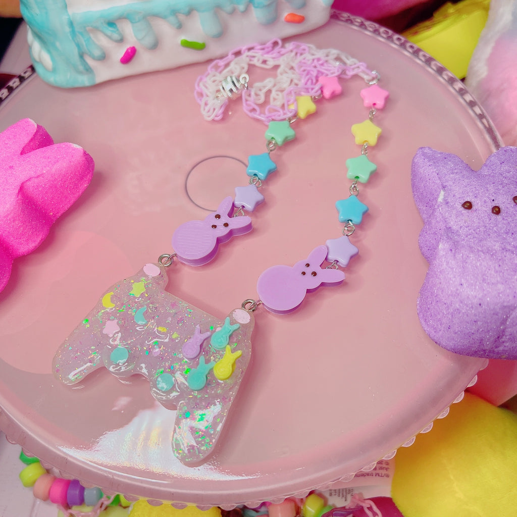 Kawaii Peep Game Controller Necklace