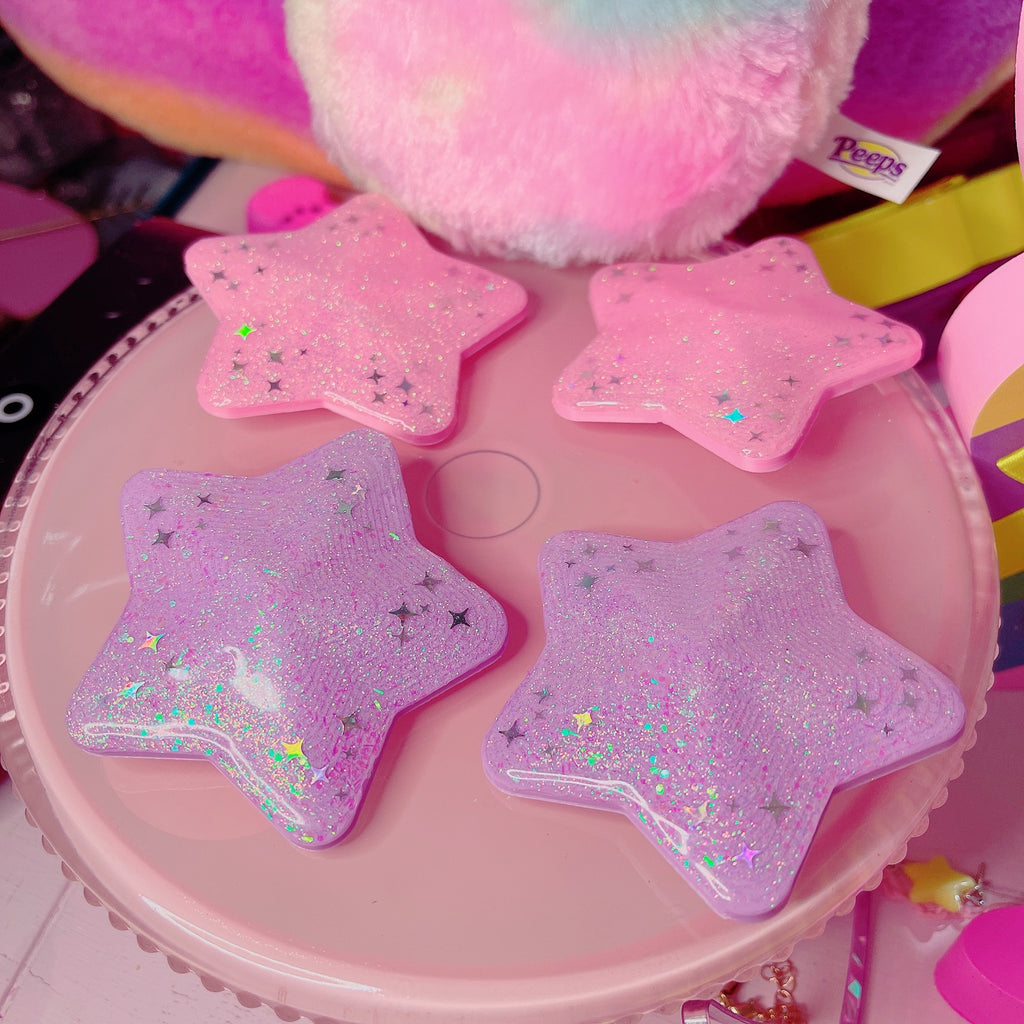 Kawaii  Magical Girl 3D Star Bun Hair Clip Set Pick One