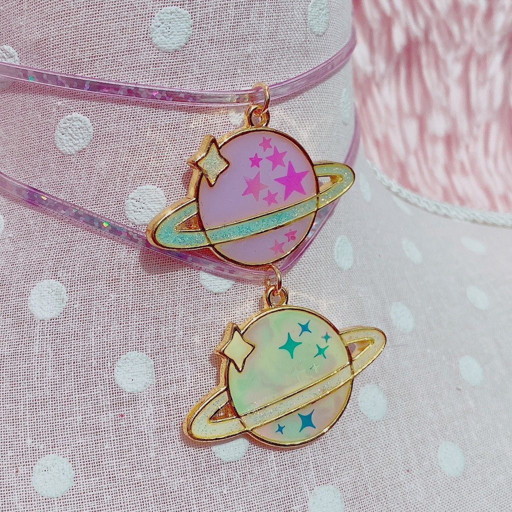 Pastel Kei Dreamy Saturn Choker Necklace