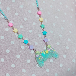 Kawaii Alien Gamer Controller Necklace fairy kei