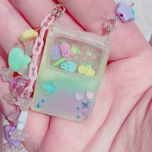 Kawaii Deluxe Pastel Rainbow Gameboy Peep Neck