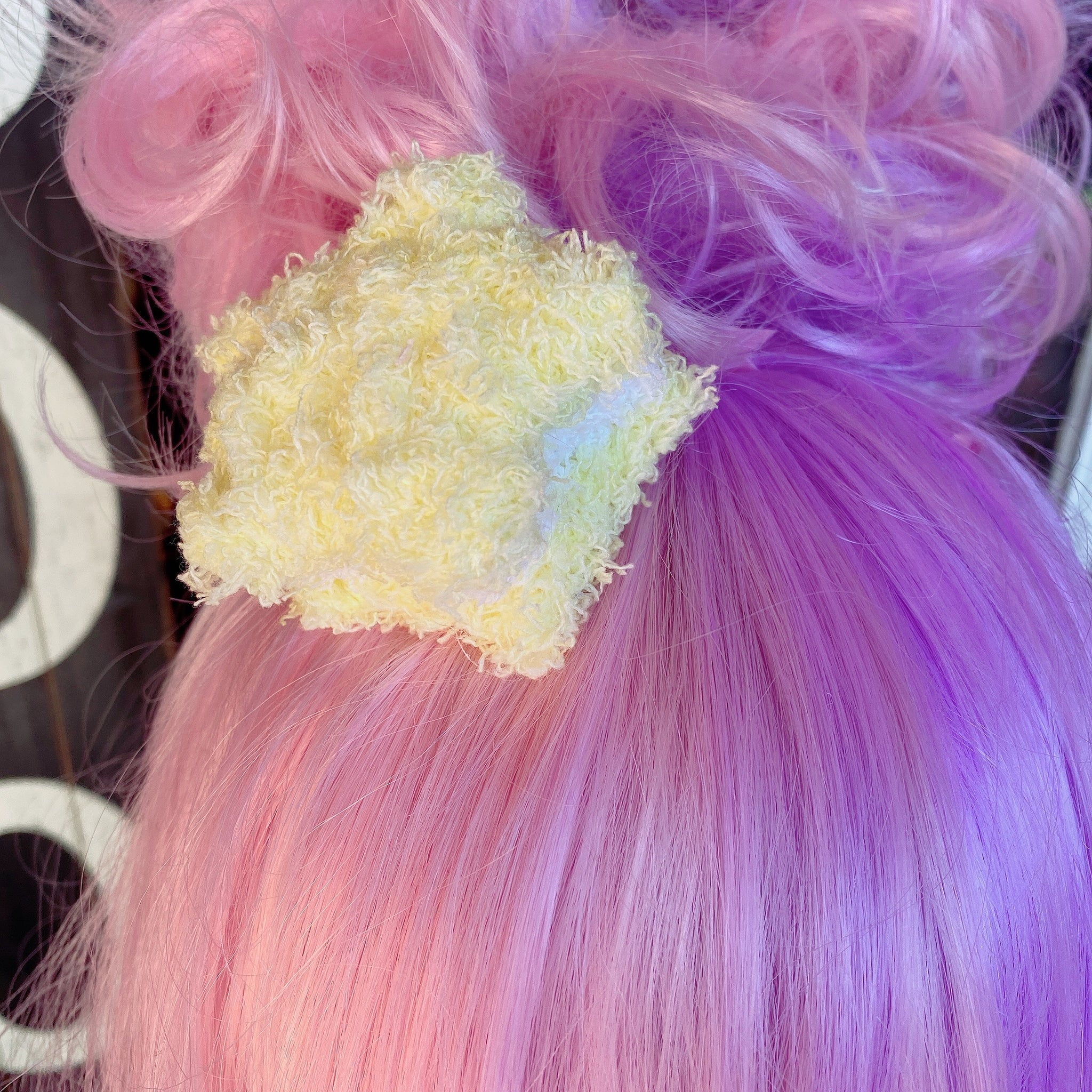 Little Twin Stars Fuzzy Star Macaron Hair Clips Pick One Fairy Kei Sweet Lolita Fashion Kawaii Fuzzy Star Kiki Lala LTS