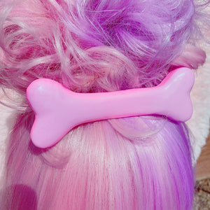 Large Kawaii Creepy Cute Pastel Goth Halloween Bone Hair Cilp