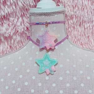 Kawaii Fairy Kei Pastel Star Baby Choker Necklaces Pick One