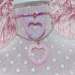 Kawaii Fairy Kei Pastel Heart Choker necklace Pick One