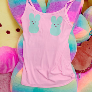 Kawaii Custom Peep Boob Bunny Tank Top