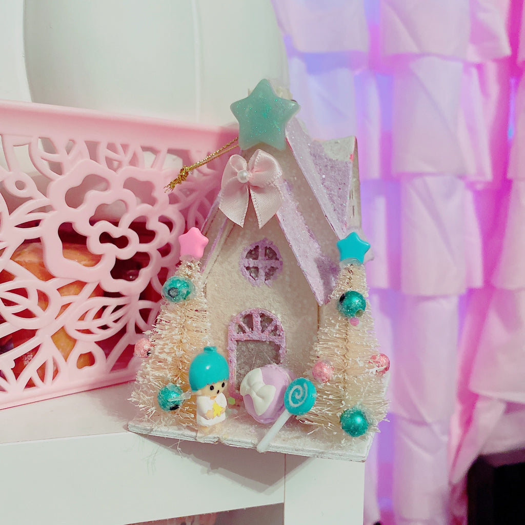 Mini Kawaii Little Twin Stars Pastel Putz House Ornament Decor