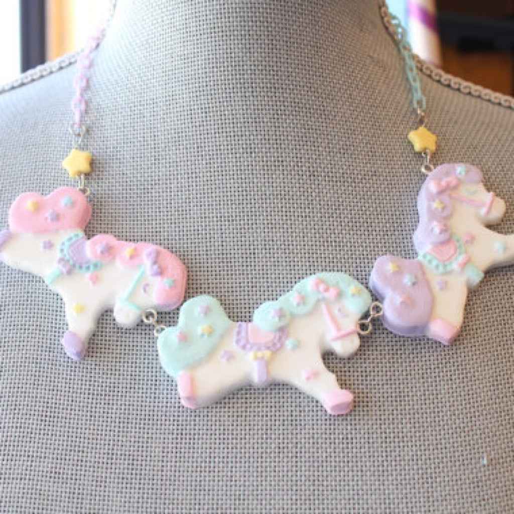 Custom listing for carousel horse necklace