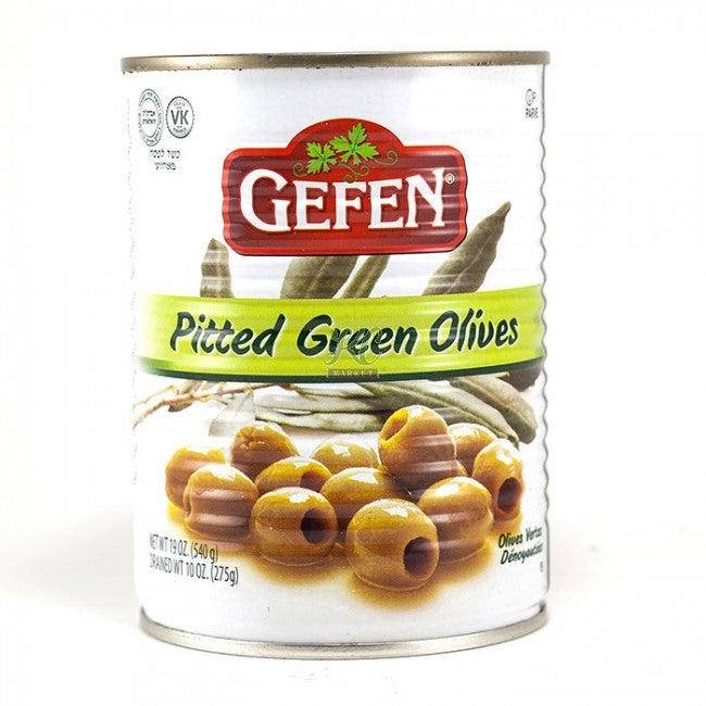 Gefen Pitted Green Olives