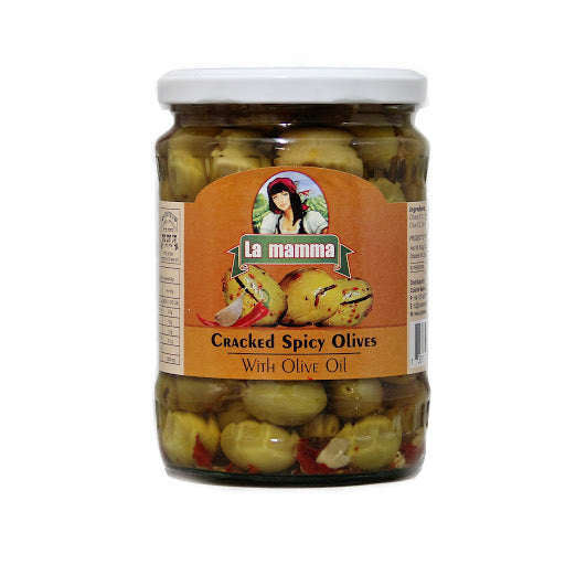 Le Mama Cracked Spicy olives
