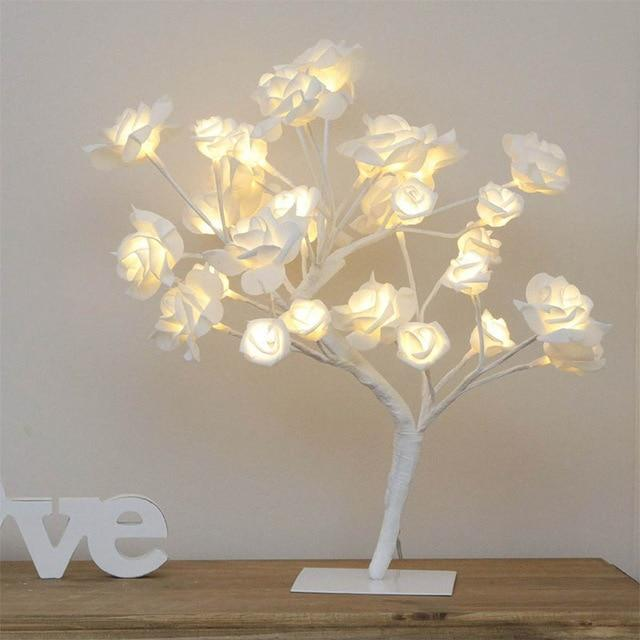 Cherry Blossom Table Lamp USB - Topsy Store