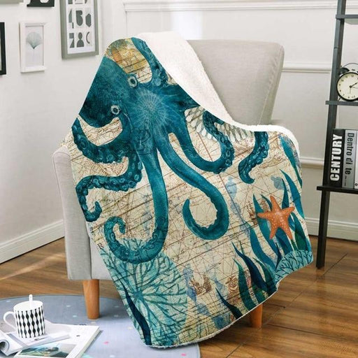 Marine Turtle Soft Plush Throw - Topsy Store