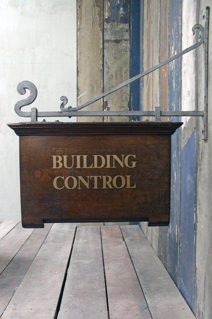 The French House - Building Control sign