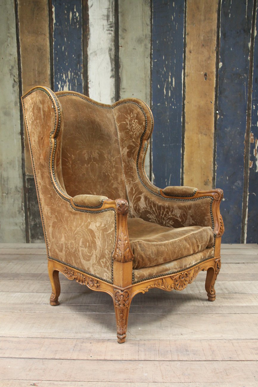 The French House - Large Louis XV wing chair