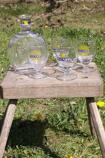 The French House - Ricard glasses
