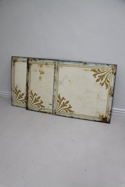 Enamel decorative panels